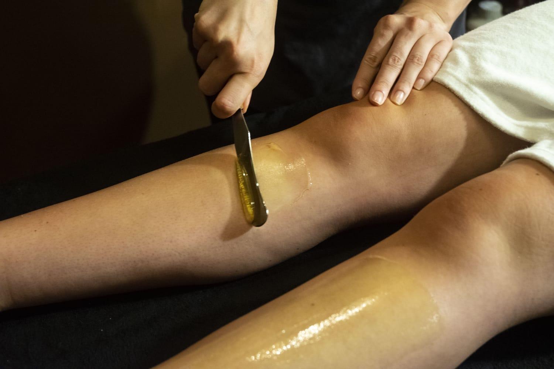 Épilation cire jambes institut Calvin & Lane Bordeaux